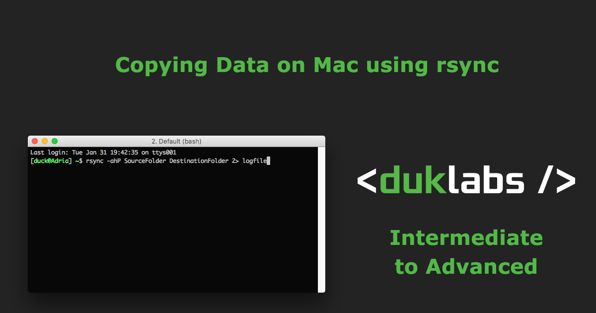 Using rsync on Mac to Copy Files
