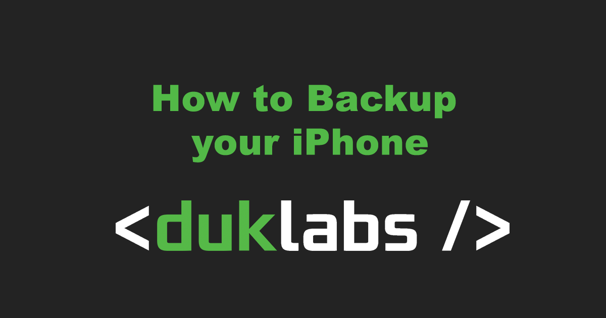 Backing up an iPhone