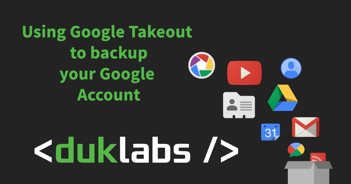 Using Google Takeout