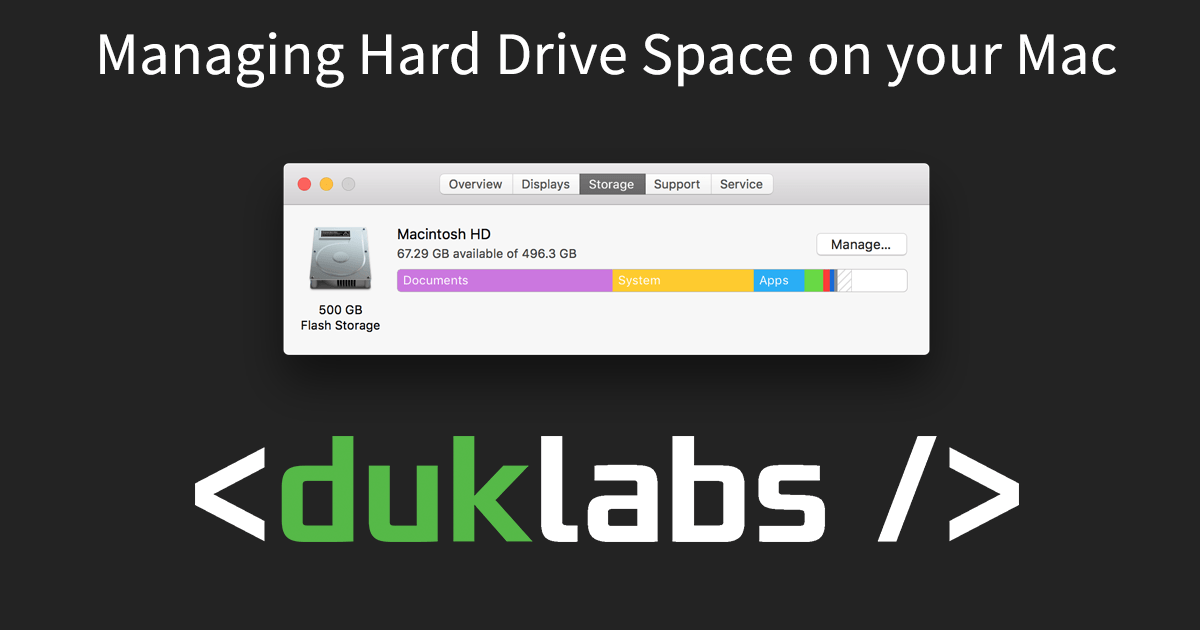 Managing Storage on your Mac