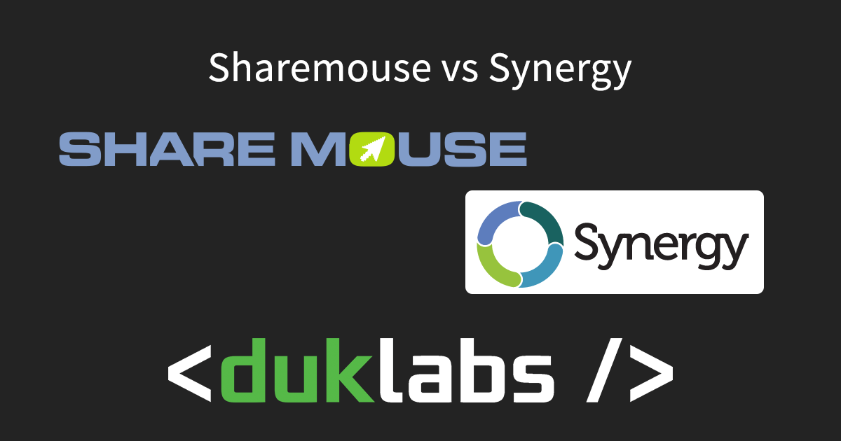 Synergy vs ShareMouse – Duck's Tech Blog